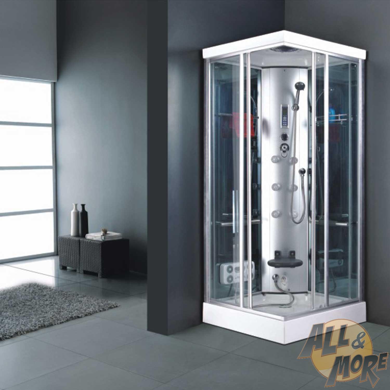 Cabina 90x90 box doccia idromassaggio vetro multifunzione - Doccione per doccia ...