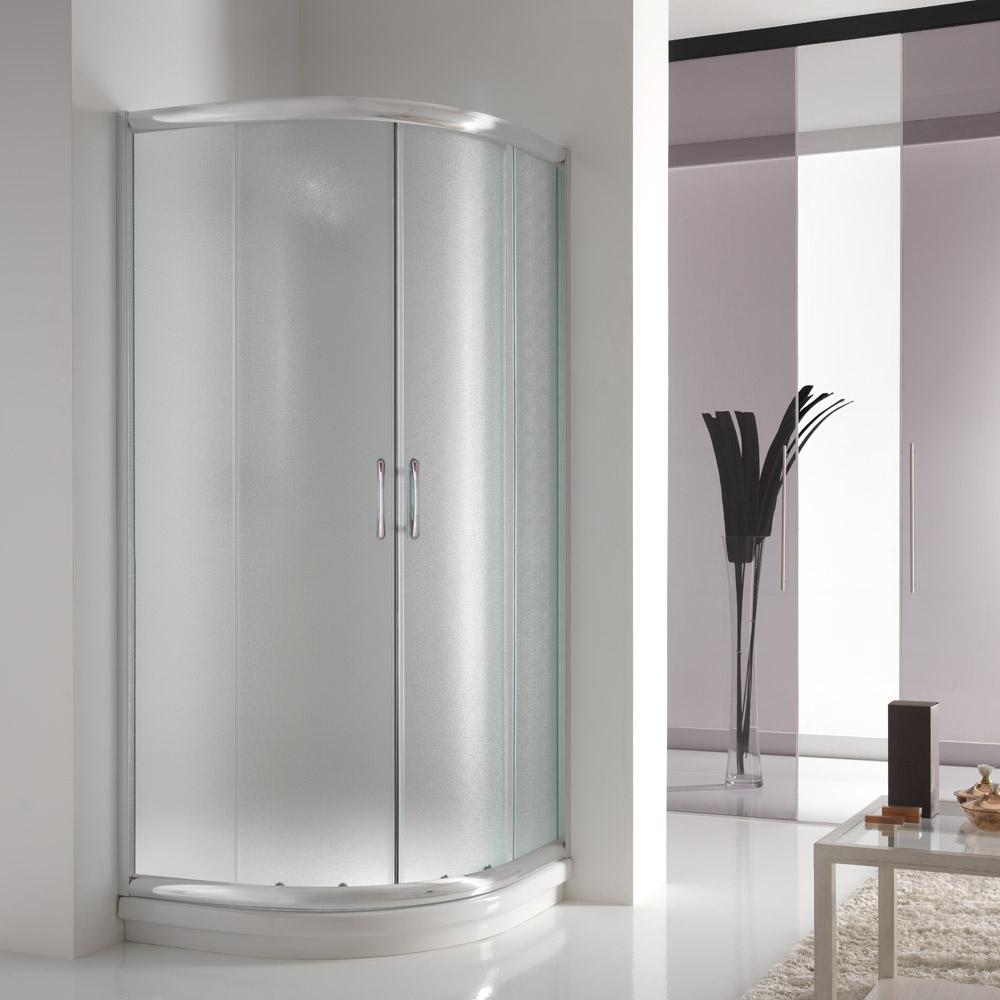 Dusche Schiebet?ren Aus Glas : Sliding Corner Entry Shower Door