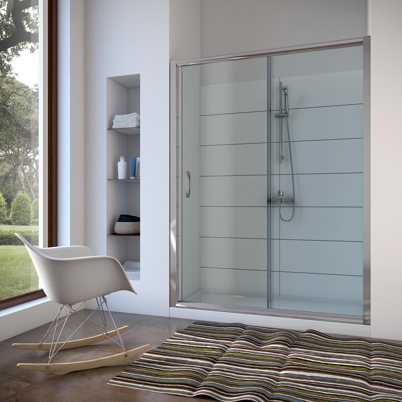 nische nischent r duscht r duschabtrennung dusche glas 100 110 120 130 140 150 ebay. Black Bedroom Furniture Sets. Home Design Ideas