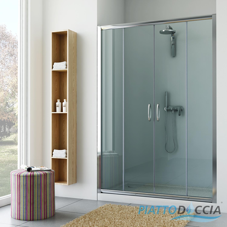 Cabine paroi porte douche niche bain verre coulissant de 98 a 152 cm italienn - Porte douche italienne ...