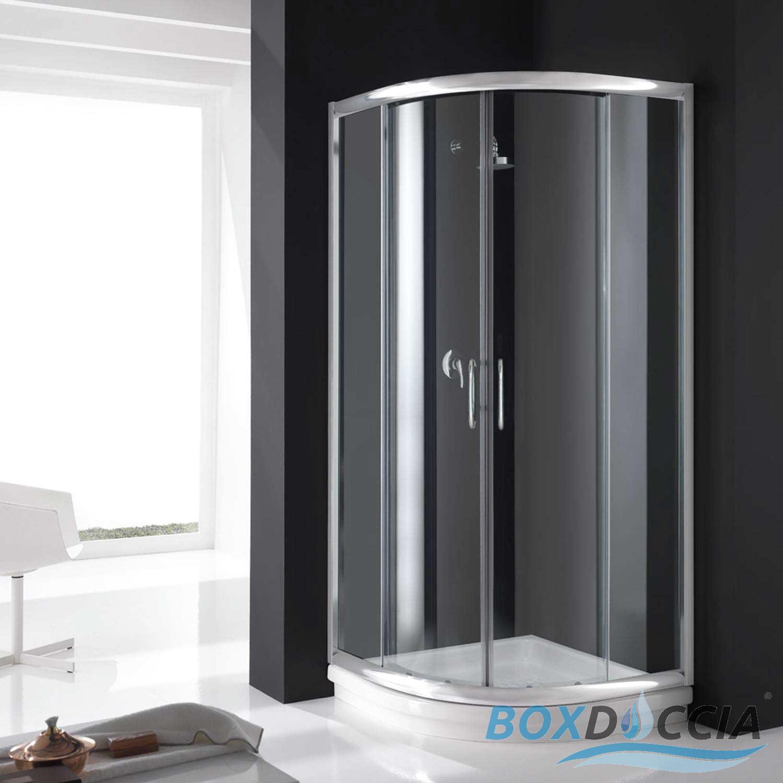 duschkabine duschabtrennung echt glas schiebet r eckeinstieg halb viertel kreis ebay. Black Bedroom Furniture Sets. Home Design Ideas