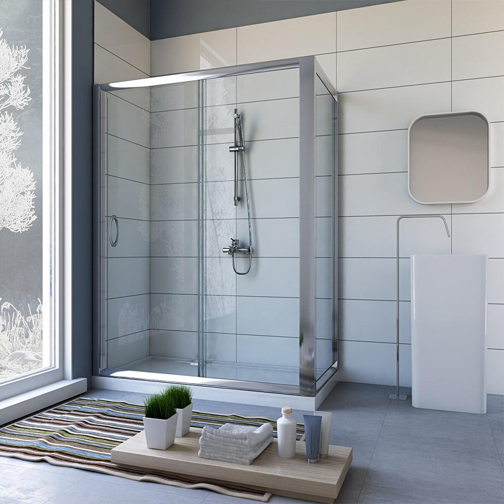 duschkabine schiebet r 70x120 echt glas h he 200 duscht r duschabtrennung ebay. Black Bedroom Furniture Sets. Home Design Ideas