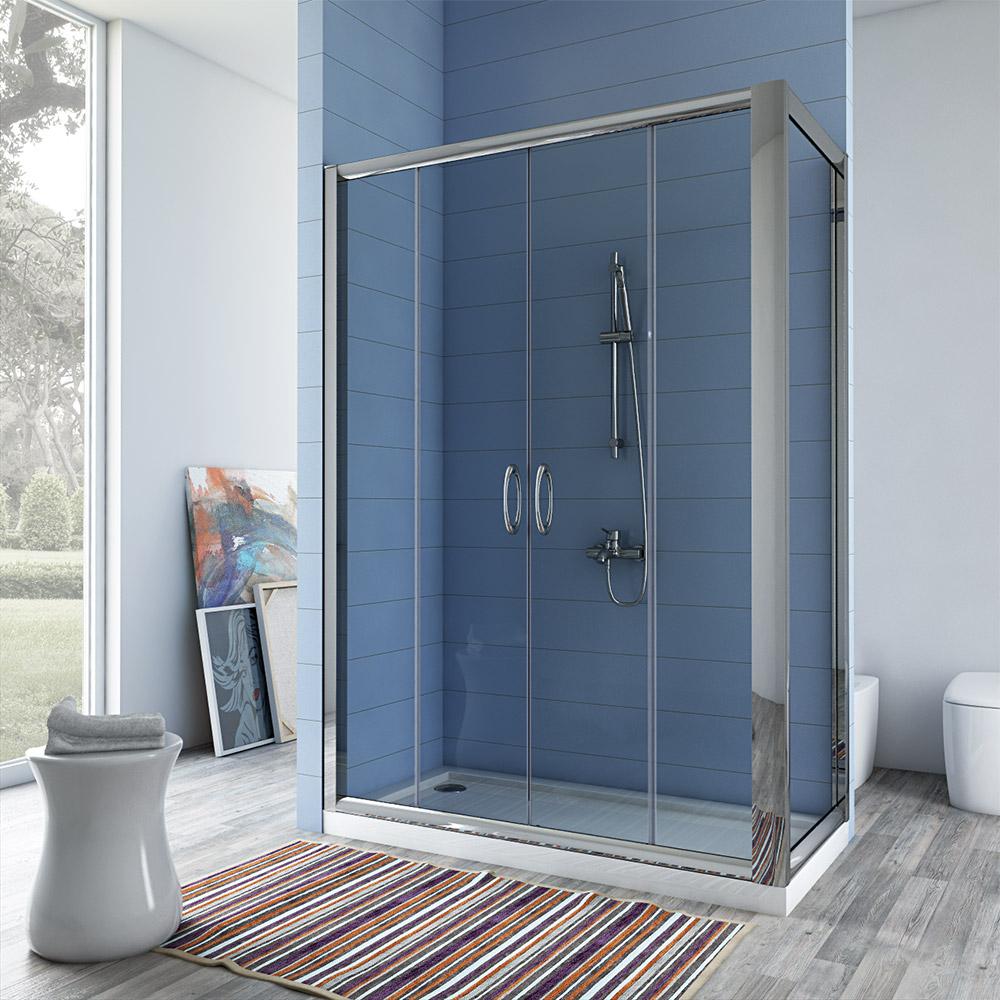 eckig duschkabine dusche eckeinstieg 70x100 70x120 70x140. Black Bedroom Furniture Sets. Home Design Ideas