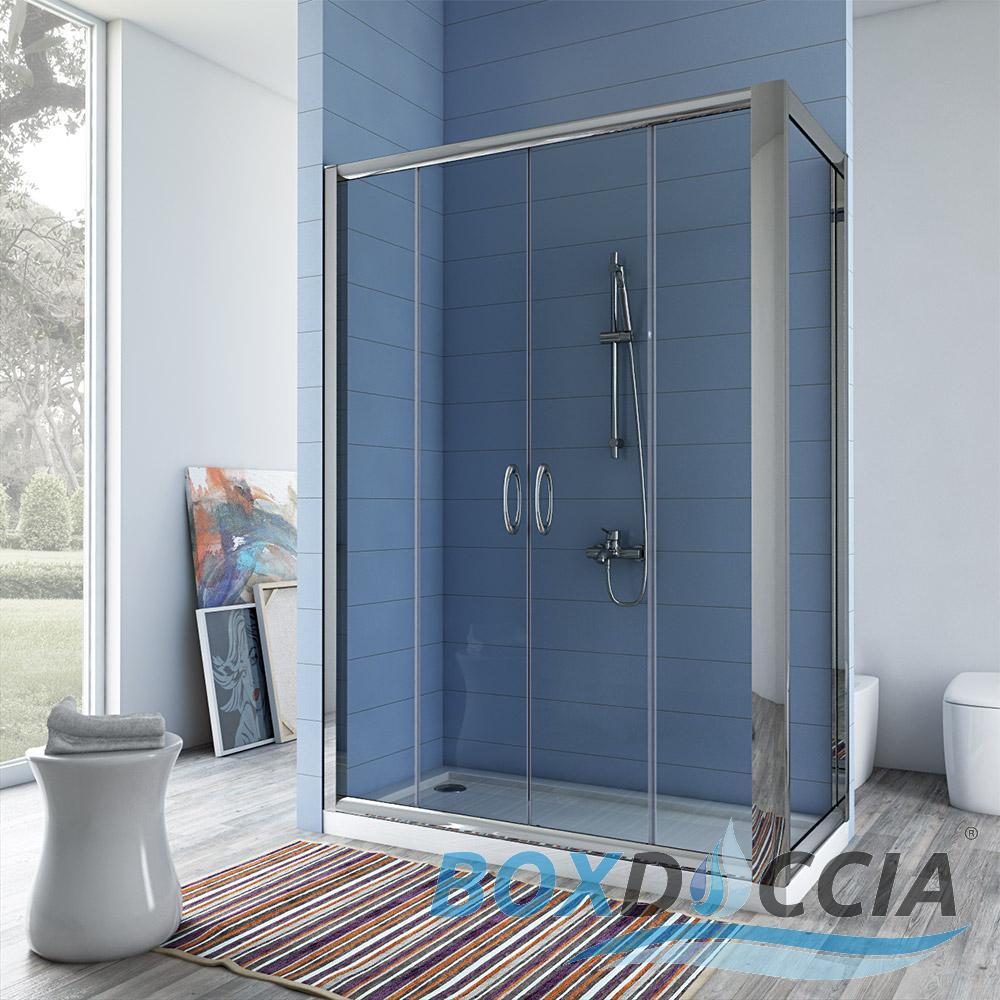 duschkabine dusche duschabtrennung duschwand echt glas schiebet r mit seitenwand ebay. Black Bedroom Furniture Sets. Home Design Ideas