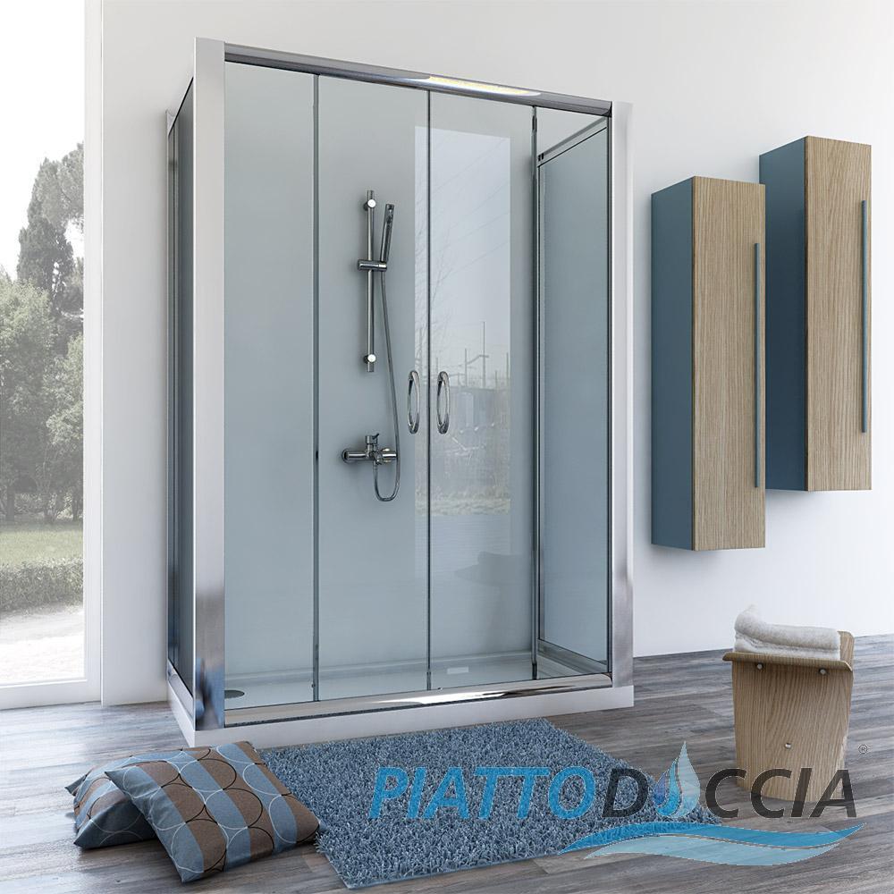 duschkabine dusche duschabtrennung u form schiebet r 2. Black Bedroom Furniture Sets. Home Design Ideas