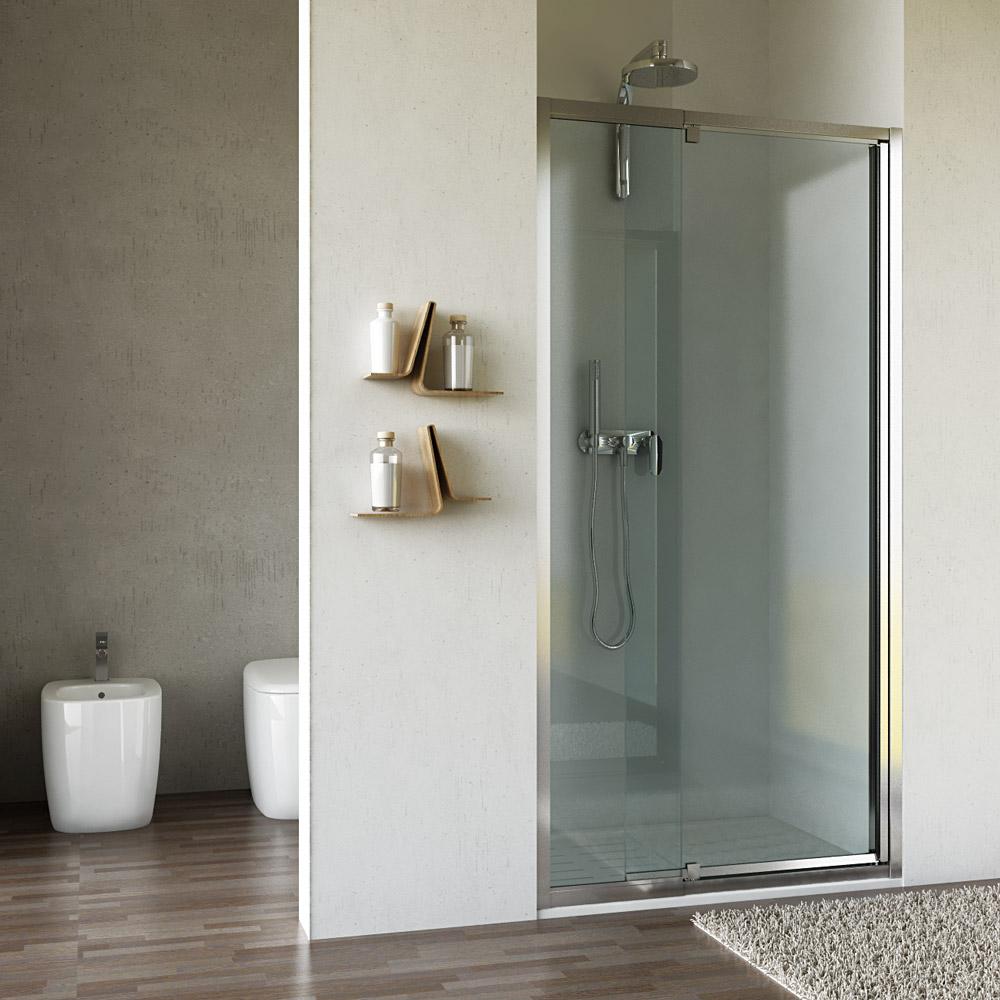 nischent r nische 95 cm klapp t r echt glas h he 200. Black Bedroom Furniture Sets. Home Design Ideas
