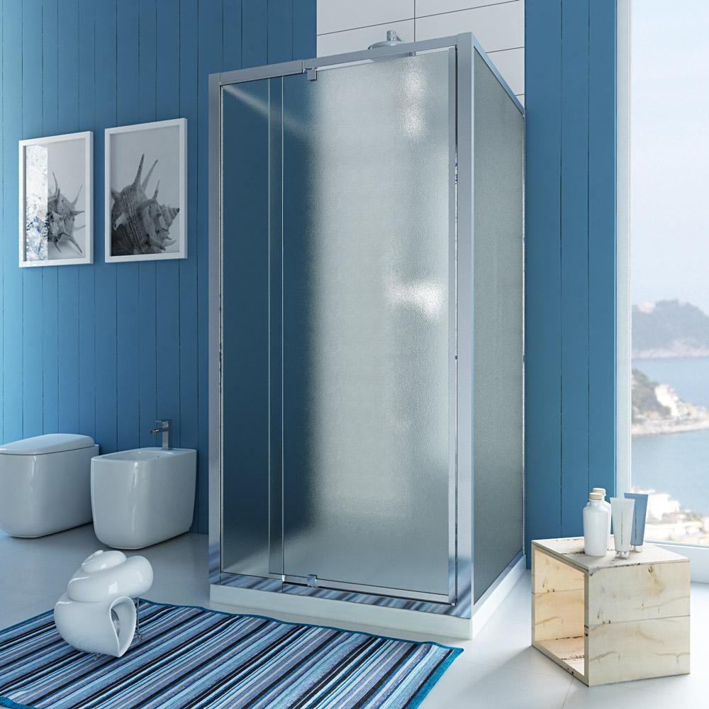 duschkabine duschabtrennung u form matt glas pendelt r 2. Black Bedroom Furniture Sets. Home Design Ideas