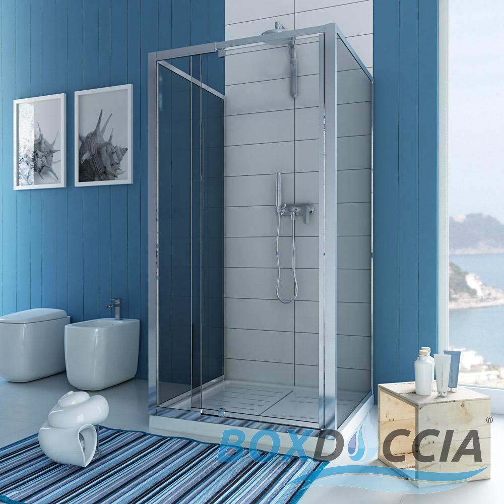 duschkabine duschabtrennung u form echtglas pendelt r 2 seitenw nden 70x90 h185 ebay. Black Bedroom Furniture Sets. Home Design Ideas