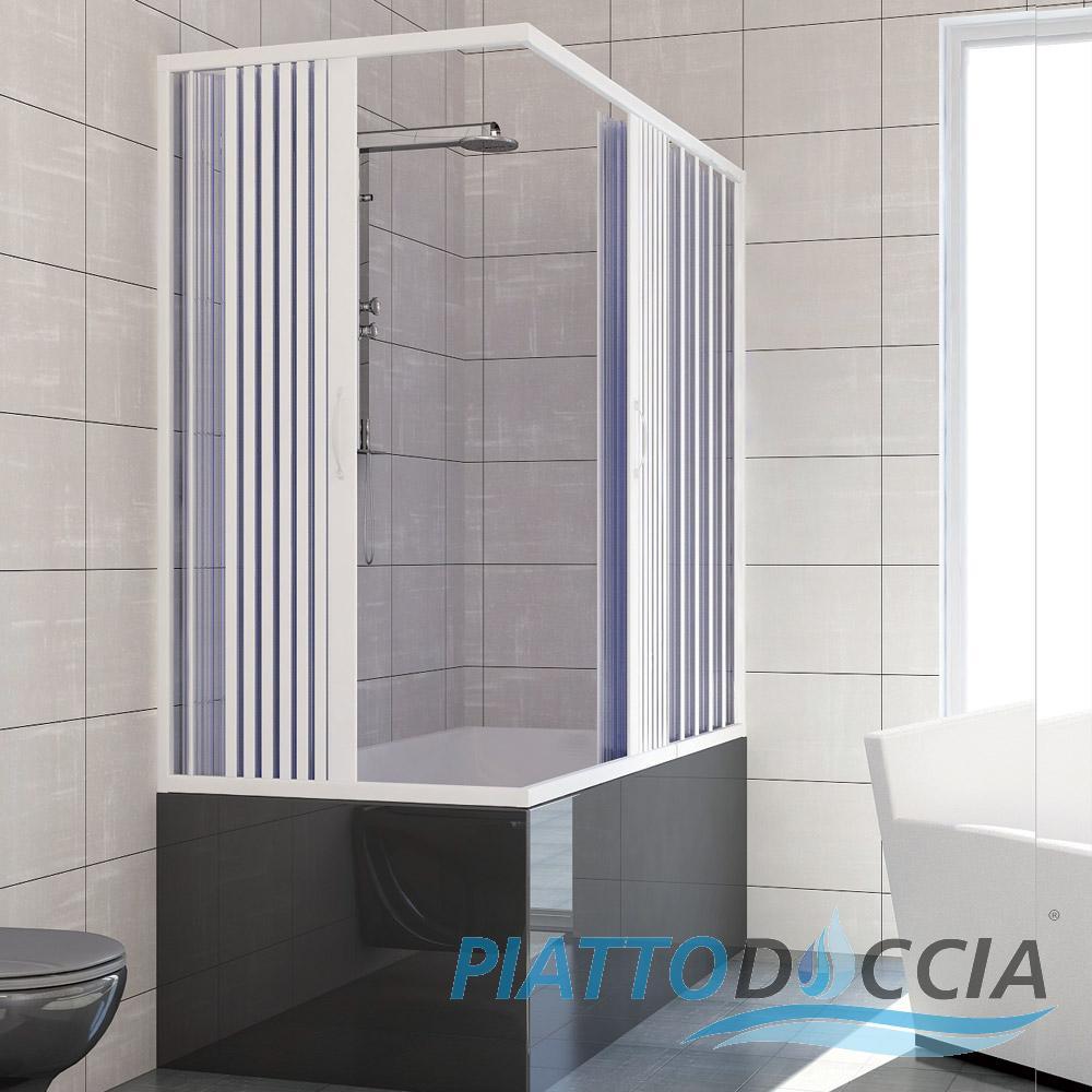 Pare baignoire douche en plastique pvc nadia 70x150 cm - Pare douche pour baignoire leroy merlin ...