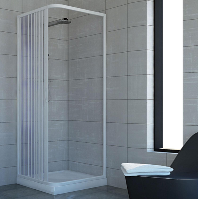 duschkabine dusche duschabtrennung duschwand eckig rechteck faltt r kunststoff ebay. Black Bedroom Furniture Sets. Home Design Ideas