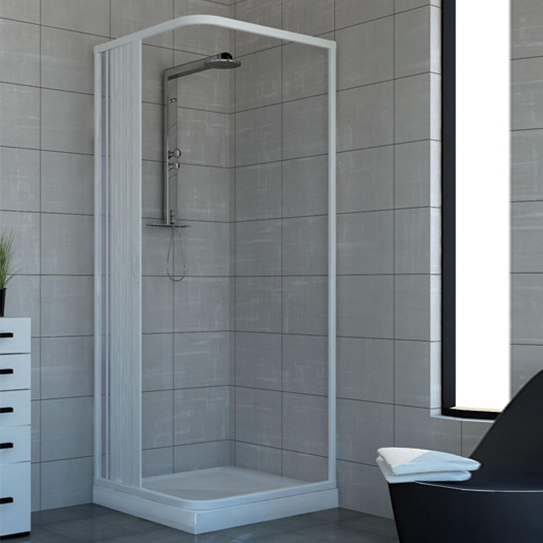 duschkabine dusche duschabtrennung duschwand eckig rechteck kunststoff 75x75 cm ebay. Black Bedroom Furniture Sets. Home Design Ideas