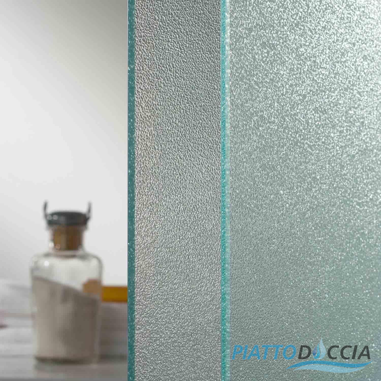 Cabine paroi douche 100x70 h185 cm verre opaque angulaire for Porte en verre opaque