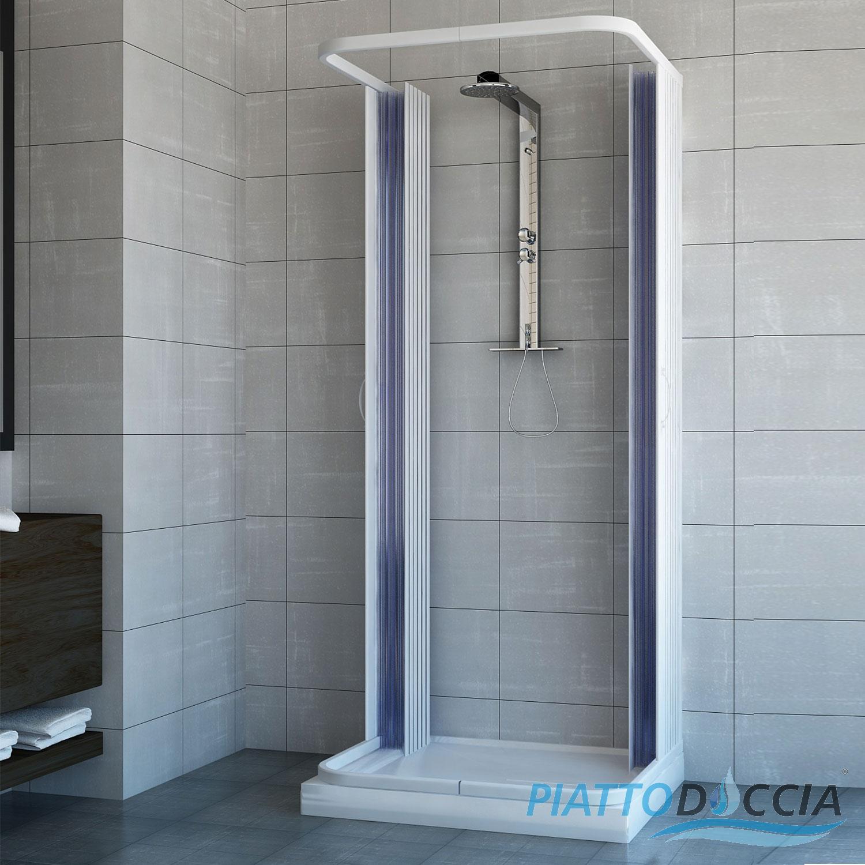 Cabine paroi de douche 3 c t s en plastique pvc 70x70 avec for Ouverture pvc
