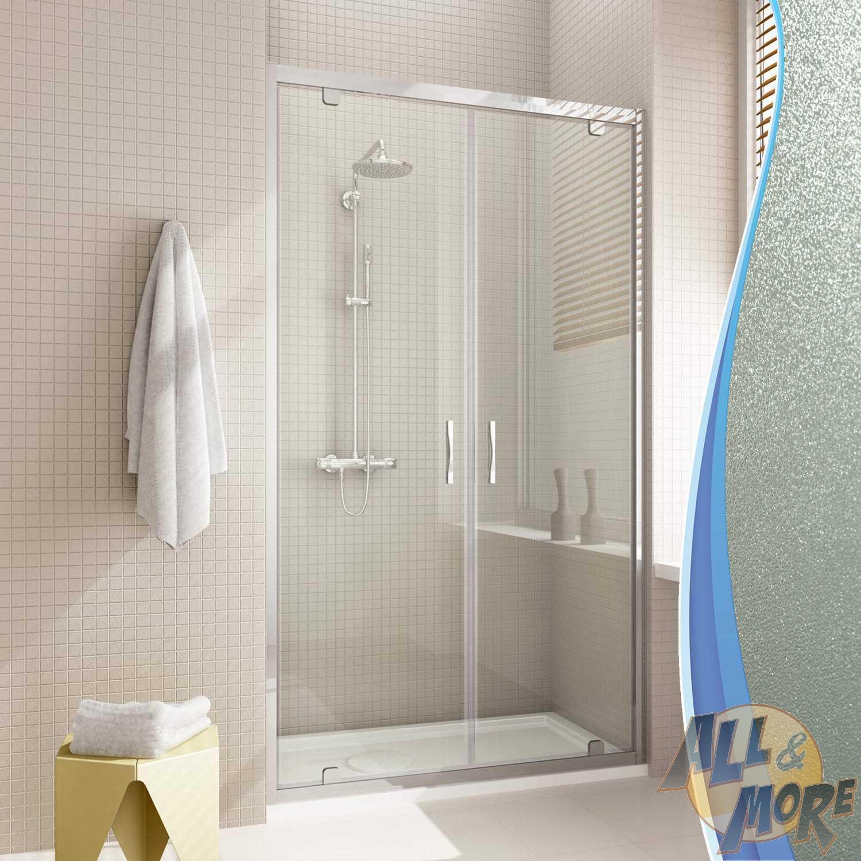 Box cabina doccia nicchia parete porta battente saloon - Porta cabina doccia ...