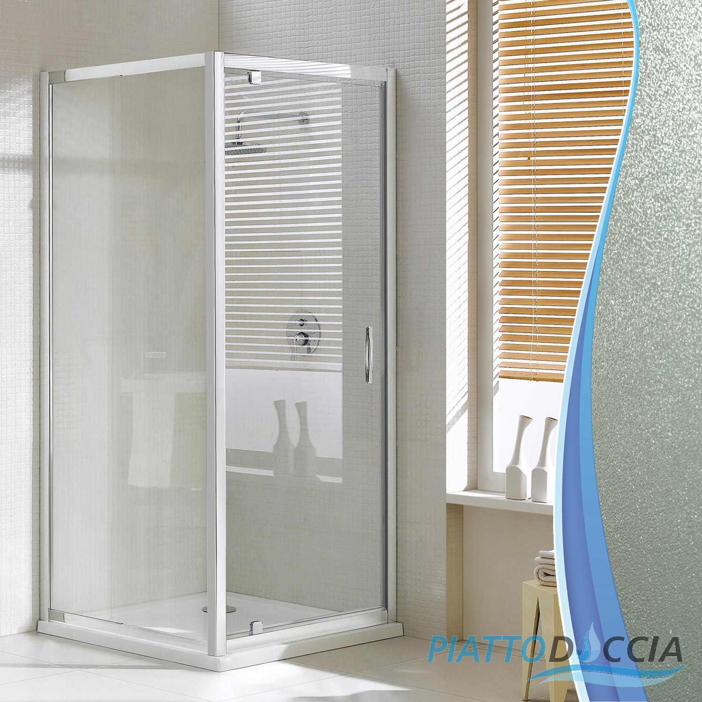 Paroi cabine de douche ouverture 1 porte pivotante verre - Cabine de douche porte pivotante ...