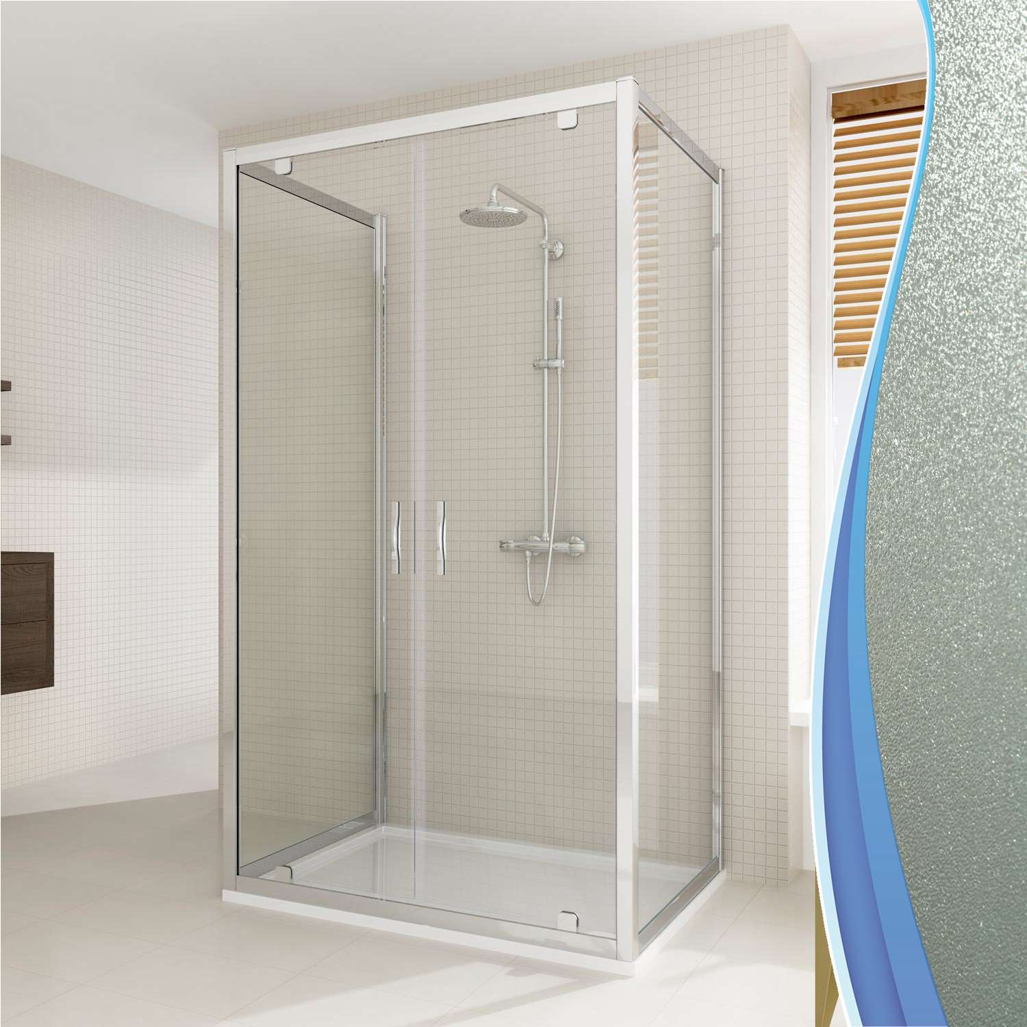 cabine de douche 80x130x80 cm 3 c t s 2 portes pivotante verre opaque ebay. Black Bedroom Furniture Sets. Home Design Ideas