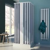 Box doccia 3 lati in PVC mod. Nova con apertura centrale