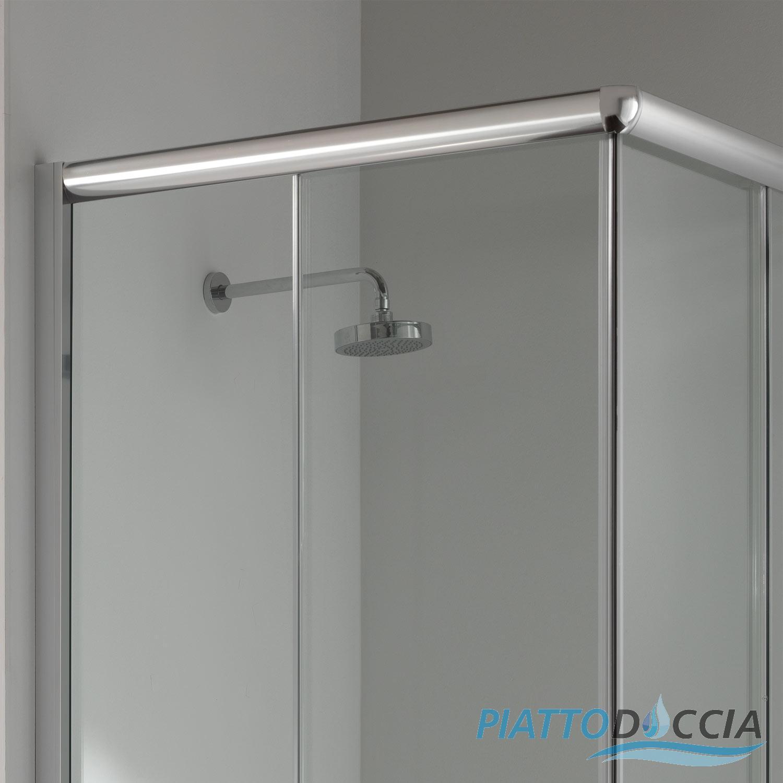 Cabine paroi douche 100x70 h200 cm verre transparent angulaire italienne alab - Cabine de douche 200 cm ...