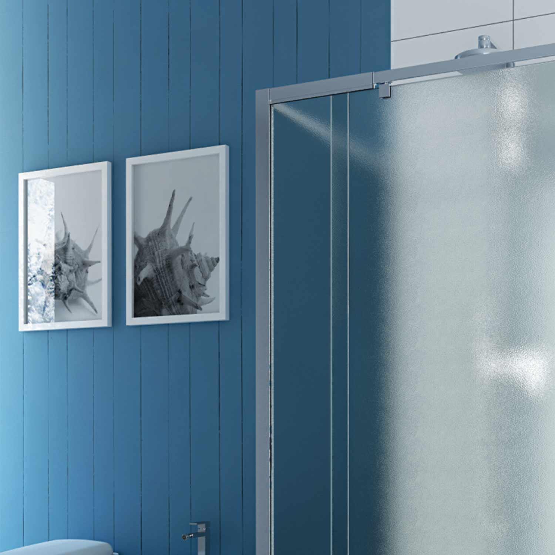 Duschkabine duschabtrennung u form matt glas pendelt r 2 for Fenster 70x90