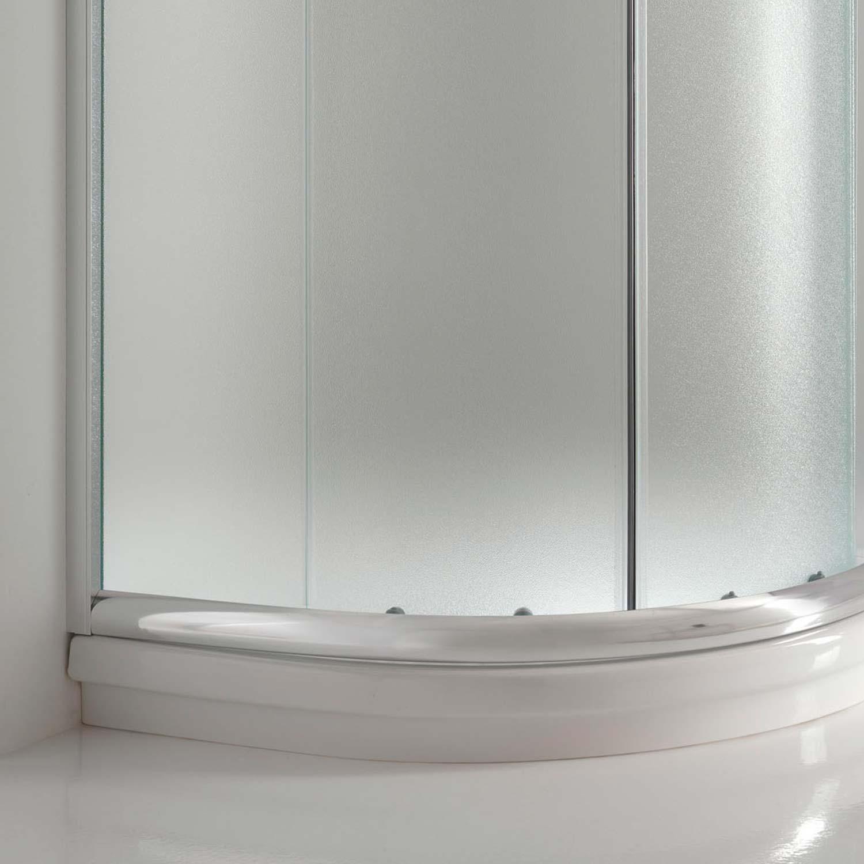 duschkabine 80x80 satiniert glas h185 duschabtrennung. Black Bedroom Furniture Sets. Home Design Ideas