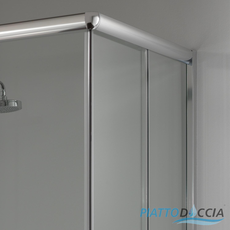 Cabine paroi douche 75x75 h200 cm verre transparent angulaire italienne alaba - Cabine de douche al italienne ...
