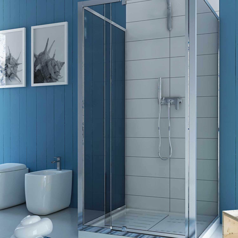 duschkabine duschabtrennung u form echtglas pendelt r 2 seitenw nden 90x90 h200 ebay. Black Bedroom Furniture Sets. Home Design Ideas