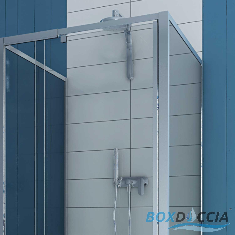 duschkabine dusche duschabtrennung u form pendelt r 2 seitenw nden echt glas ebay. Black Bedroom Furniture Sets. Home Design Ideas