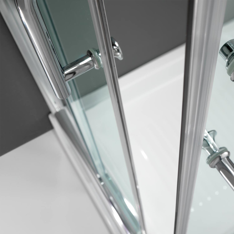 Duschkabine duschabtrennung 75x75 h200 echtglas duschwand for Fenster 75x75
