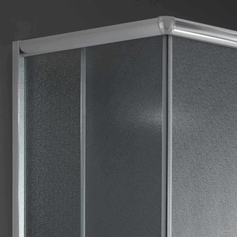Cabine paroi douche 90x70 h185 cm verre opaque angulaire italienne alabama - Paroi douche italienne 70 cm ...