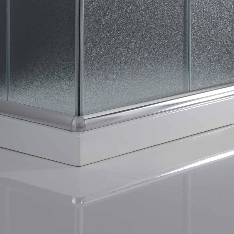 duschkabine duschabtrennung 90x90 h185 echtglas duschwand. Black Bedroom Furniture Sets. Home Design Ideas