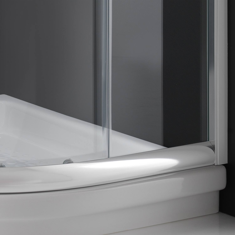duschkabine duschabtrennung 80x80 h185 echtglas klarglas glas viertelkreis rund ebay. Black Bedroom Furniture Sets. Home Design Ideas