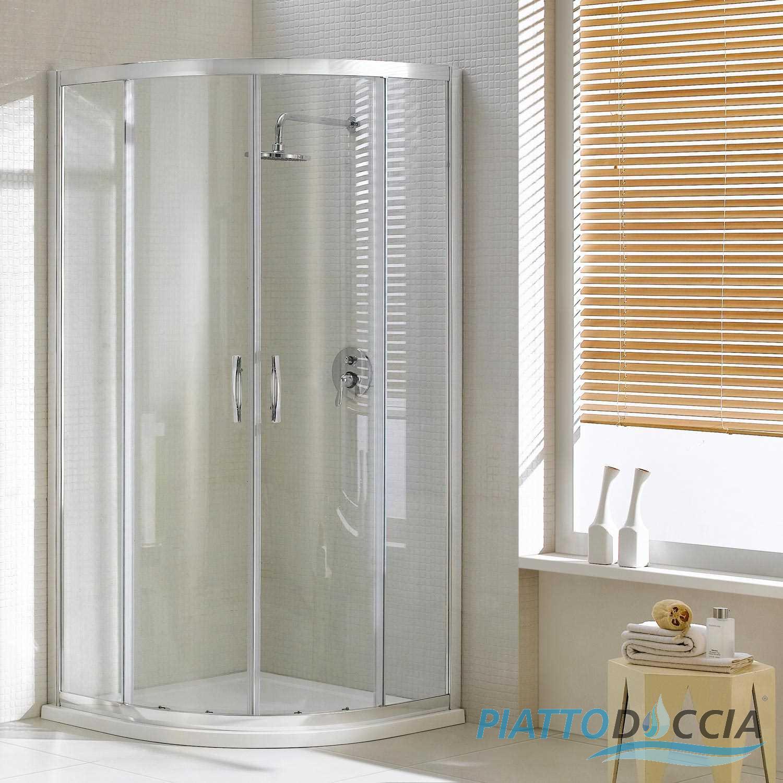 Cabine paroi douche demi circulaire 80x80 h198 cm arrondie Porte de douche coulissante arrondie