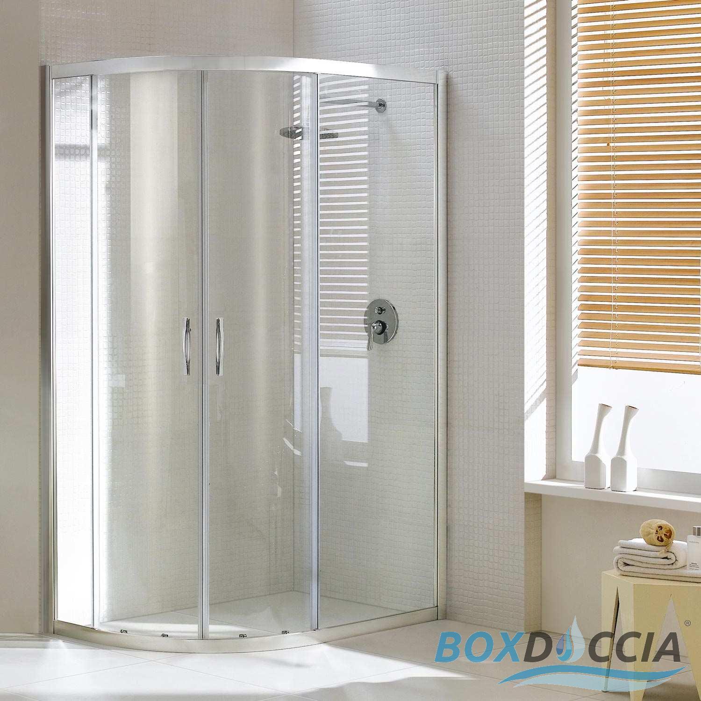 Paroi cabine de douche ouverture angulaire arrondie circulaire verre coulissa - Cabine de douche a vendre ...
