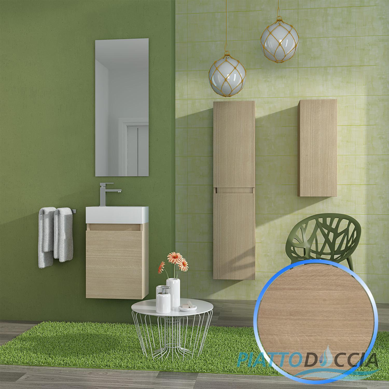 Ensemble meuble suspendu salle de bain lavabo miroir 40 cm vienna1 ebay - Ebay meuble salle de bain ...