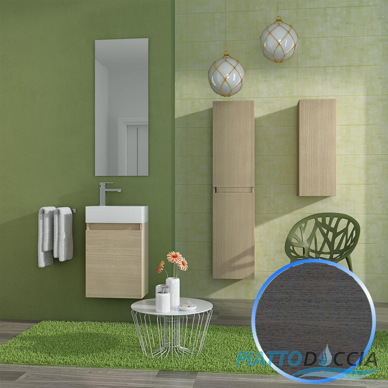 ensemble meuble suspendu salle de bain lavabo miroir 40 cm vienna1 ebay. Black Bedroom Furniture Sets. Home Design Ideas