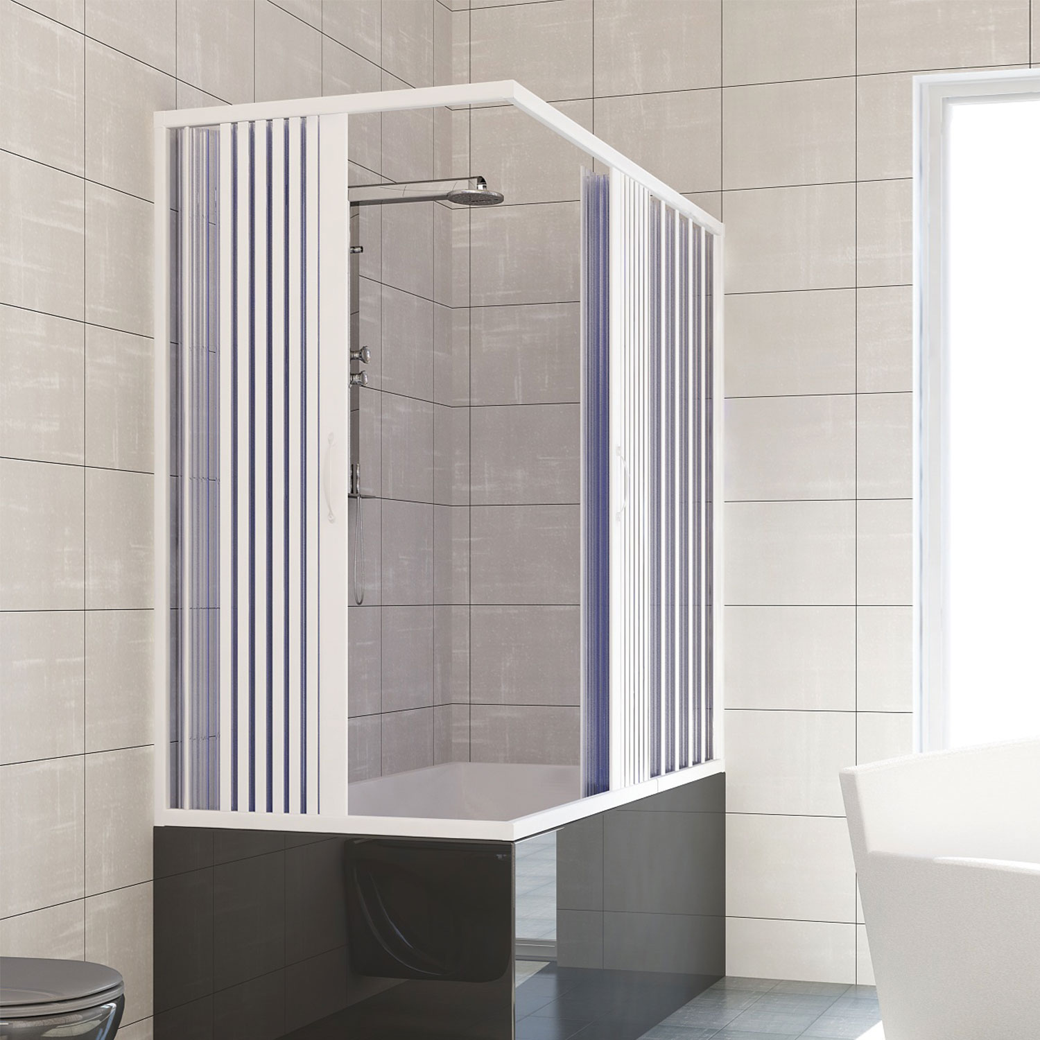 Shower Rails For Corner Baths Over Bath Shower Enclosure Plastic Pvc Folding Doors Panel