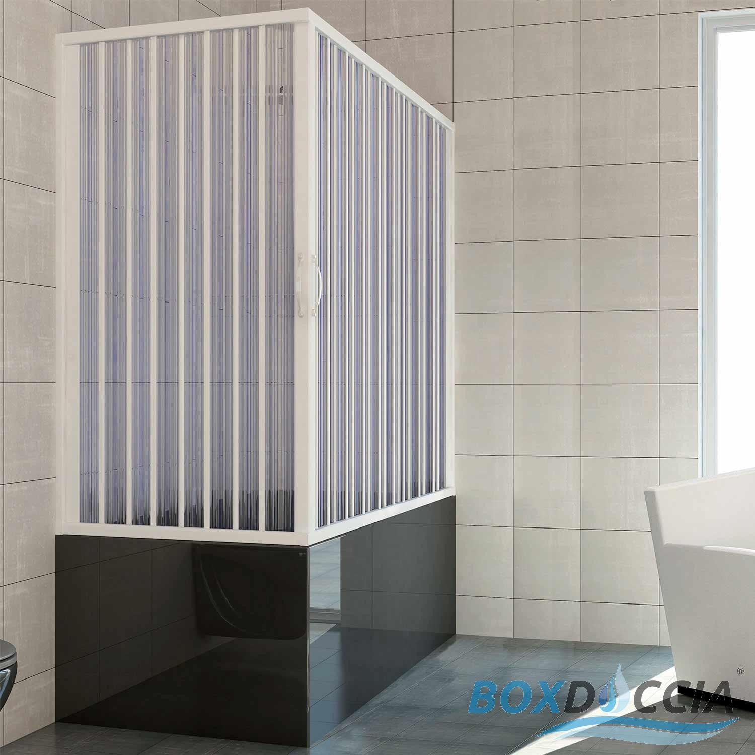 pare baignoire cabine pliante paroi douche plastique pvc couleurs sur mesure ebay. Black Bedroom Furniture Sets. Home Design Ideas