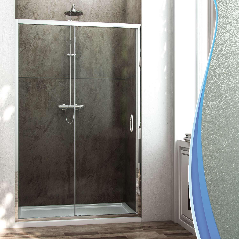 Porta box doccia nicchia cristallo stampato c 6mm 1 anta - Porta in cristallo scorrevole ...