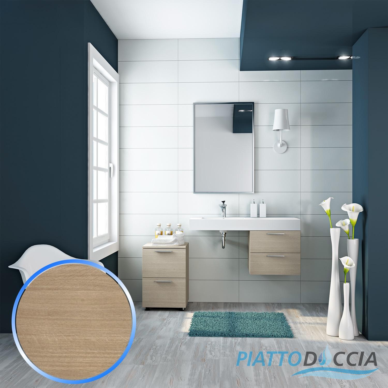 Ensemble meuble suspendu salle de bain lavabo miroir 100 for Ensemble meuble lavabo salle de bain