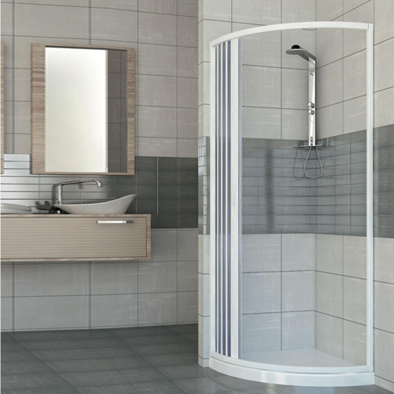 duschkabine duschabtrennung eckeinstieg halb viertel kreis kunststoff 75x75 ebay. Black Bedroom Furniture Sets. Home Design Ideas