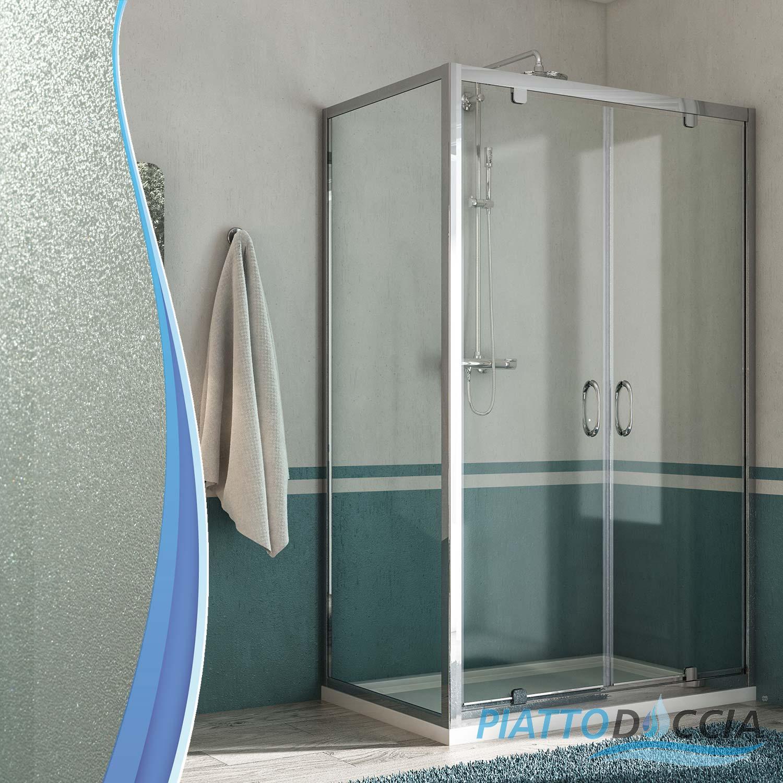 Duschkabine duschabtrennung 2 schwingt ren fronteinstieg for Fenster 70x90