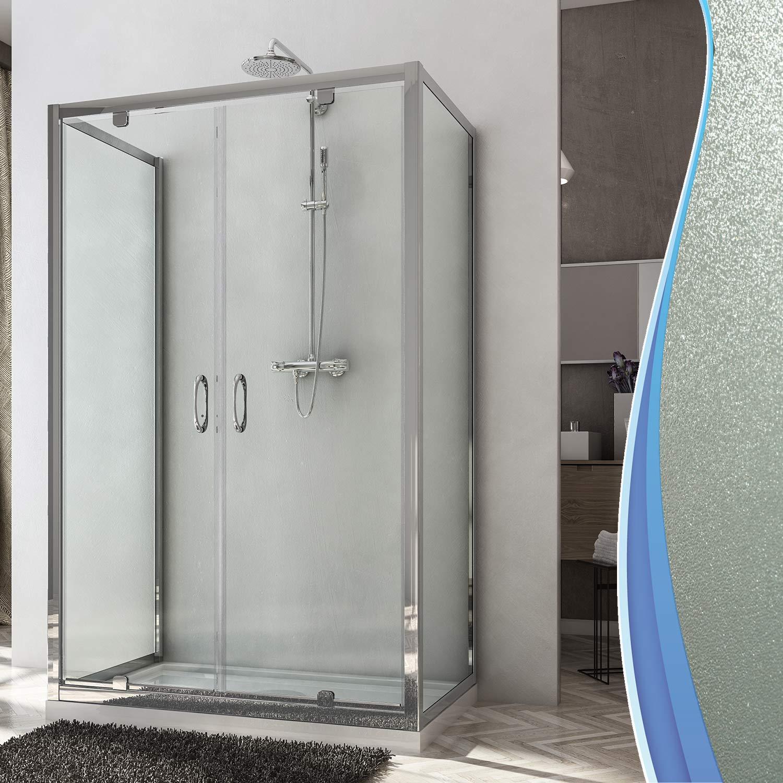 Box doccia 70x90x70 3 tre lati vetro stampato c 2 ante a battente cabina saloon ebay - Ante per doccia ...