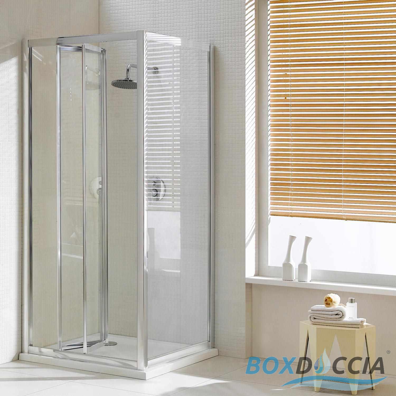 Paroi cabine de douche angulaire verre ouverture 1 porte pliante carr italie - Cabine de douche a vendre ...