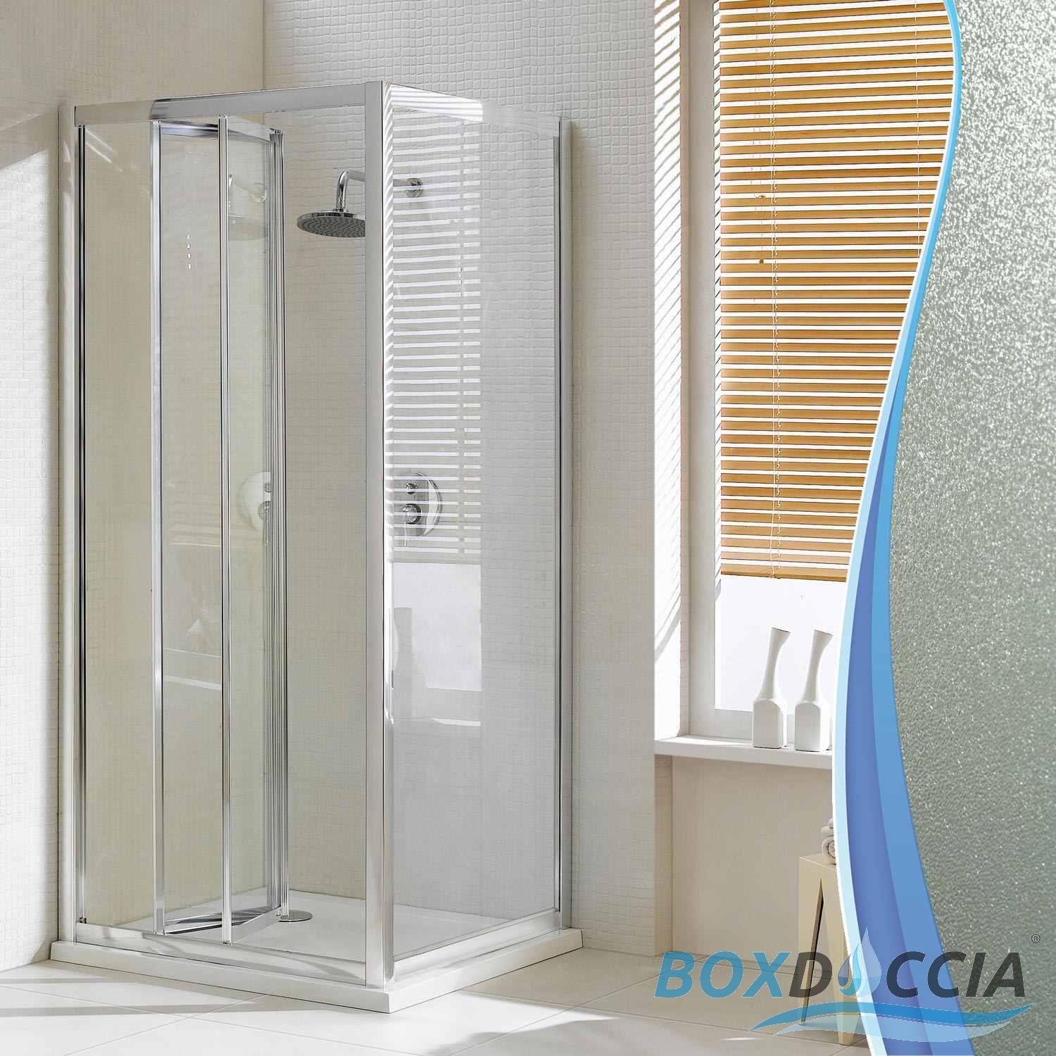 paroi cabine de douche angulaire verre ouverture 1 porte pliante carr italienne ebay. Black Bedroom Furniture Sets. Home Design Ideas