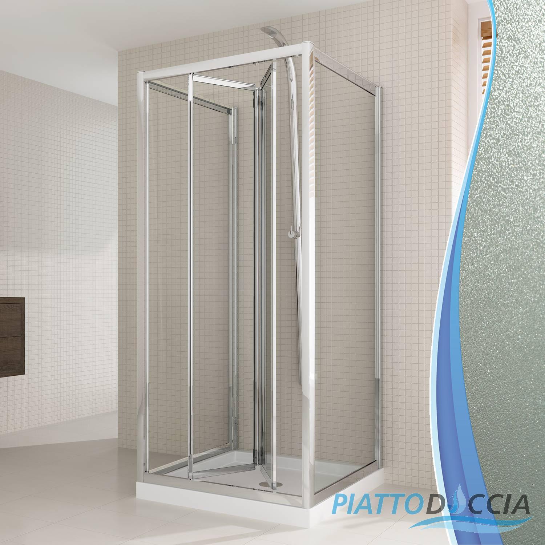 Duschkabine dusche u form duschabtrennung glas duschwand - Falttur mit fenster ...