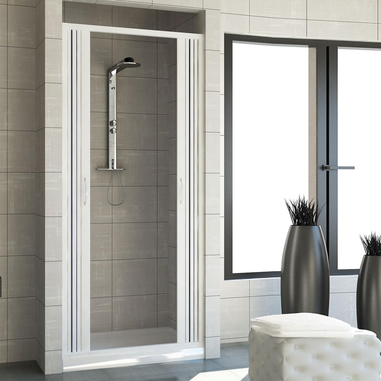 Cabine paroi porte de douche niche pliante plastique pvc couleurs sur mesure ebay - Porte douche plastique ...