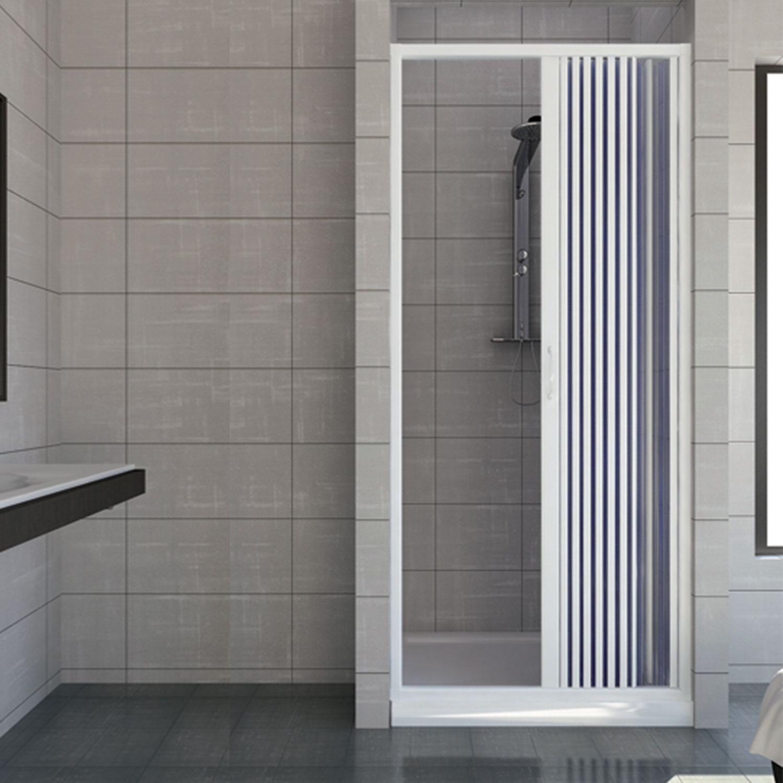 Porte paroi de douche en plastique pvc vergine 90 cm avec for Ouverture pvc