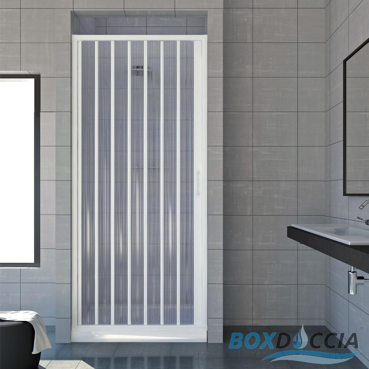 cabine paroi porte de douche niche pliante plastique pvc 14 couleurs sur mesure ebay. Black Bedroom Furniture Sets. Home Design Ideas