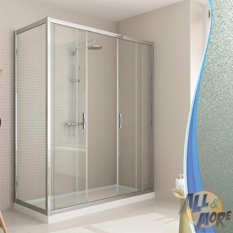Shower Enclosure Corner Entry Square Glass 2 Sliding