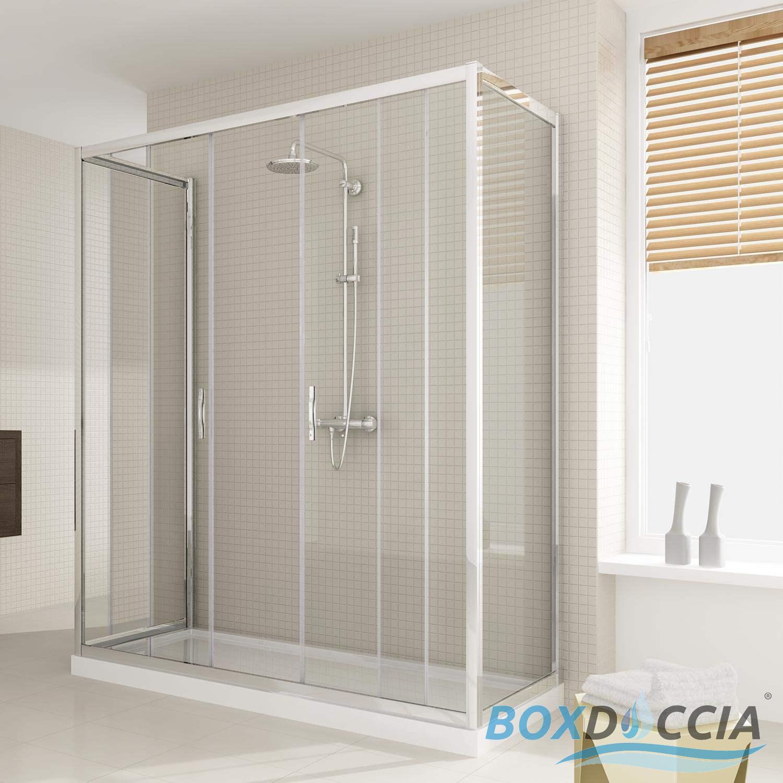 Paroi cabine de douche 3 cotes ouverture 2 verres coulissantes carr italienn - Cabine de douche a vendre ...